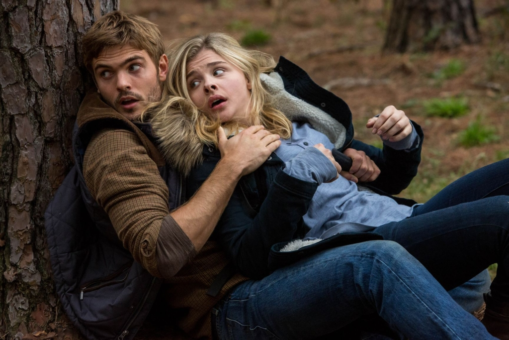 "Alex Roe, left, and Chloë Grace Moretz star in Columbia Pictures' ""The 5th Wave"""
