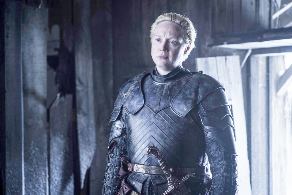 Gwendoline Christie as Brienne of Tarth – photo Helen Sloan/HBO