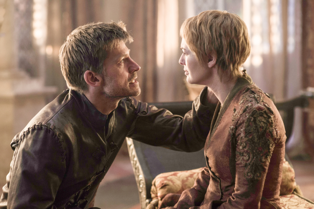 Nikolaj Coster-Waldau as Jaime Lannister and Lena Headey as Cersei Lannister – photo Helen Sloan/HBO